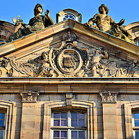 Pediment Sculptures on Palais Rohan in Strasbourg, France<br />
