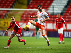 December 23, 2017 - London, United Kingdom - Blackpool's Jimmy Ryan.during Sky Bet  League One match between Charlton Athletic  against Blackpool at The Valley Stadium London on 23 Dec  2017  (Credit Image: © Kieran Galvin/NurPhoto via ZUMA Press)