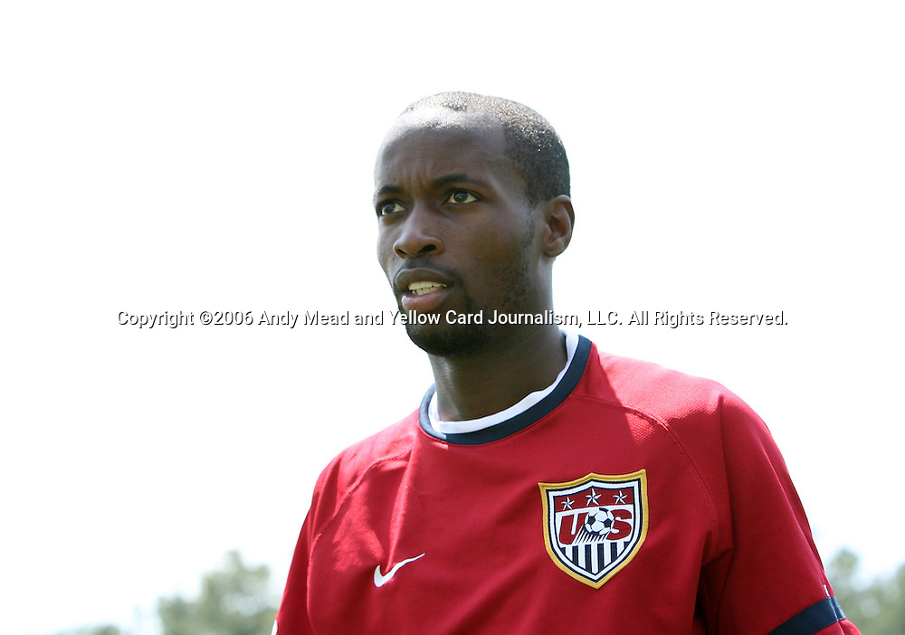 DaMarcus Beasley on Wednesday, May 17th, 2006 at SAS Soccer Park in Cary, North Carolina. The United States Men's National Soccer Team held a training session as part of their preparations for the upcoming 2006 FIFA World Cup Finals being held in Germany.