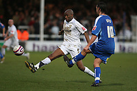 Photo: Pete Lorence/Sportsbeat Images.<br />Peterborough United v Milton Keynes Dons. Coca Cola League 2. 15/12/2007.<br />George Boyd clears the ball.