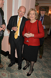 EDWARD ENFIELD and ANNE REID at the Oldie Magazine's Oldie of The Year Awards held at Simpson's In The Strand, London on 4th February 2014.