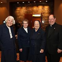 Sister Joan Kuester, Sister Maureen McGuire, Sister Bernice Coreil, Father John Kettelberger