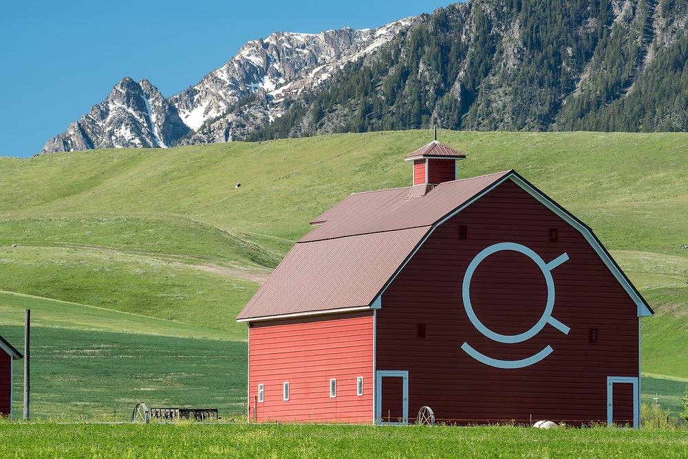Historic Brennan barn in Oregon's Wallowa Valley.