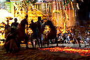 The firewalking on the last night of the annual festival.