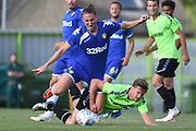 Leeds United's Luke Ayling(2) fouled during the Pre-Season Friendly match between Forest Green Rovers and Leeds United at the New Lawn, Forest Green, United Kingdom on 17 July 2018. Picture by Alan Franklin.