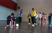 Recycling awareness workshop in Torreguitart school, Sabadell (Catalonia).