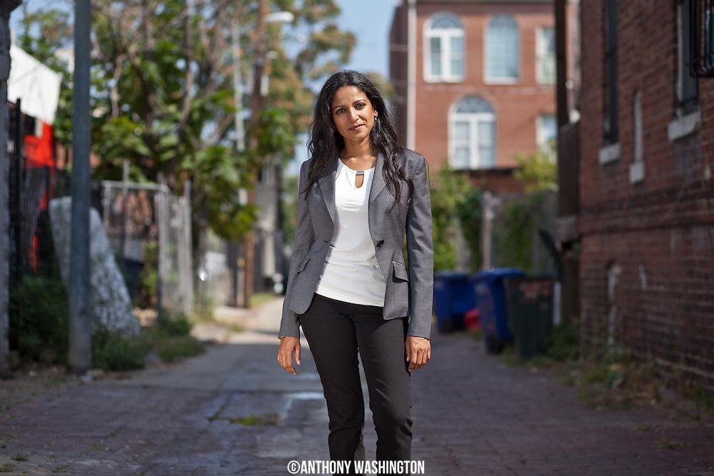 "Photo of Kavitha Cardoza for the ""Breaking Ground"" series."