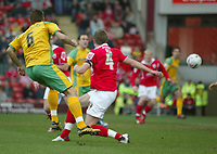 Photo: Aidan Ellis.<br /> Barnsley v Norwich City. Coca Cola Championship. 03/03/2007.<br /> Norwich's Darren Huckerby scores the first goal