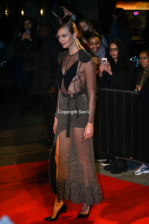 London,England,UK. 21th Fen 2017. Karlie Kloss attends London Fabulous Fund Fair hosted by Natalia Vodianova and Karlie Kloss in support of The Naked Heart Foundation on February 21, 2017 at The Roundhouse in London, England.,UK. by See Li