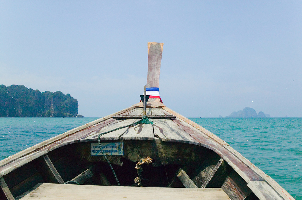 Longtail boat on Andaman Sea Southern Thailand&amp;#xA;<br />