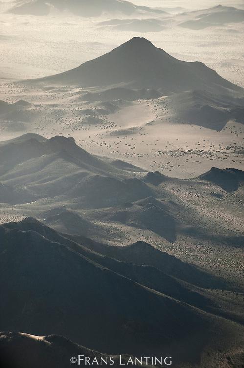 Klinghardt Mountains (aerial), Sperrgebiet National Park, Namibia