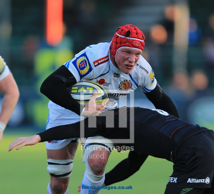 Tom Johnson of Exeter Chiefs during the LV Cup match at Allianz Park, London<br /> Picture by Michael Whitefoot/Focus Images Ltd 07969 898192<br /> 07/02/2015