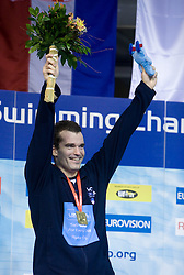 Winner at Men`s 100m Individual Medley Peter Mankoc (9th times European Champion) at day 4 of LEN European Short Course Swimming Championships Rijeka 2008, on December 14, 2008,  in Kantrida pool, Rijeka, Croatia. (Photo by Vid Ponikvar / Sportida)