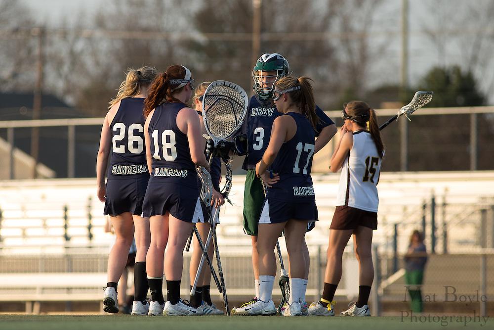 Drew University Women's Lacrosse at Rowan University at Richard Wacker Stadium  in Glassboro, NJ on Tuesday April 9, 2013. (photo / Mat Boyle)