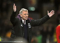 Football - 2017 / 2018 Premier League - Watford vs. West Ham United<br /> <br /> West ham new Manager,David Moyes shows his frustration after going 2 goals down  at The London Stadium.<br /> <br /> COLORSPORT/ANDREW COWIE