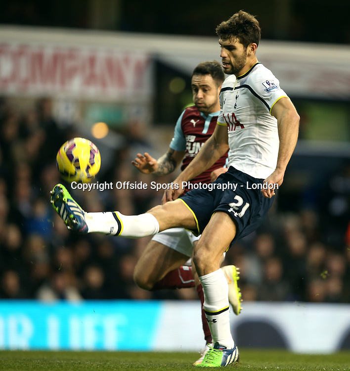 20 December 2014 Premeir League Football - Tottenham Hostpur v Burnley;  Federico Fazio of Tottenham.<br /> Photo: Mark Leech.