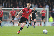 Morecambe Forward, Adam Campbell (10) uring the EFL Sky Bet League 2 match between Morecambe and Barnet at the Globe Arena, Morecambe, England on 28 April 2018. Picture by Mark Pollitt.
