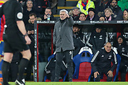 Manchester United Manager Jose Mourinho gestures  during the Premier League match between Crystal Palace and Manchester United at Selhurst Park, London, England on 5 March 2018. Picture by Phil Duncan.