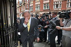 © Licensed to London News Pictures. 04/04/2017. London, UK. Former Mayor of London Ken Livingstone is surrounded by reporters and TV news crews as he arrives at Church House to hear the result of a Labour Party disciplinary hearing. Mr Livingstone has been accused of anti-Semitism after comments he made in April 2016 claiming that Hitler supported Zionism in the 1930's. Photo credit: Peter Macdiarmid/LNP