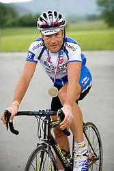 Rider Jure Robic won the 24 hours race across Slovenia, on May 12, 2007, in Postojna, Slovenia. (Photo by Vid Ponikvar / Sportal Images)../ Sportida)
