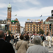 R&aring;dhuspladsen, the Copenhagen City Hall Square, a large open space that represents the civic and commercial centre of town. <br /> Photography by Jose More