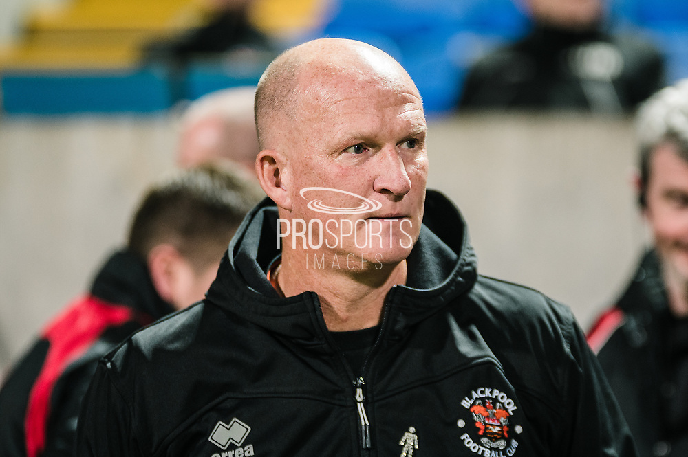 Blackpool FC manager Simon Grayson before the EFL Sky Bet League 1 match between Bolton Wanderers and Blackpool at the University of  Bolton Stadium, Bolton, England on 7 October 2019.