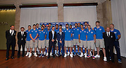 Milano 24 luglio 2013<br /> Basket media day nazionale italiana pallacanestro maschie<br /> nella foto squadra<br /> foto Ciamillo