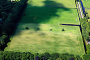 Nederland, Noord-Holland, 's-Graveland, 14-06-2012; maaien van gras, weiden van vee.Mowing the meadow, grazing cattle. luchtfoto (toeslag), aerial photo (additional fee required).foto/photo Siebe Swart