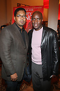 l to r: Jayson Jackson and Len Burnett at The Opening for Spike Lee's theater production of  ' County of Kings' held at The Publc Theater on October  12, 2009