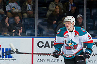 KELOWNA, CANADA - JANUARY 25:  Kaedan Korczak #6 of the Kelowna Rockets skates against the Victoria Royals  on January 25, 2019 at Prospera Place in Kelowna, British Columbia, Canada.  (Photo by Marissa Baecker/Shoot the Breeze)