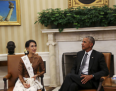 Washington: Barack Obama holds a bilateral meeting with Aung San Suu Kyi, 14 September 2016