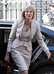 Image ©Licensed to i-Images Picture Agency. 10/06/2014. London, United Kingdom. Cabinet Meeting. Theresa May arrives for the cabinet meeting today at 10 Downing Street. Picture by Daniel Leal-Olivas / i-Images
