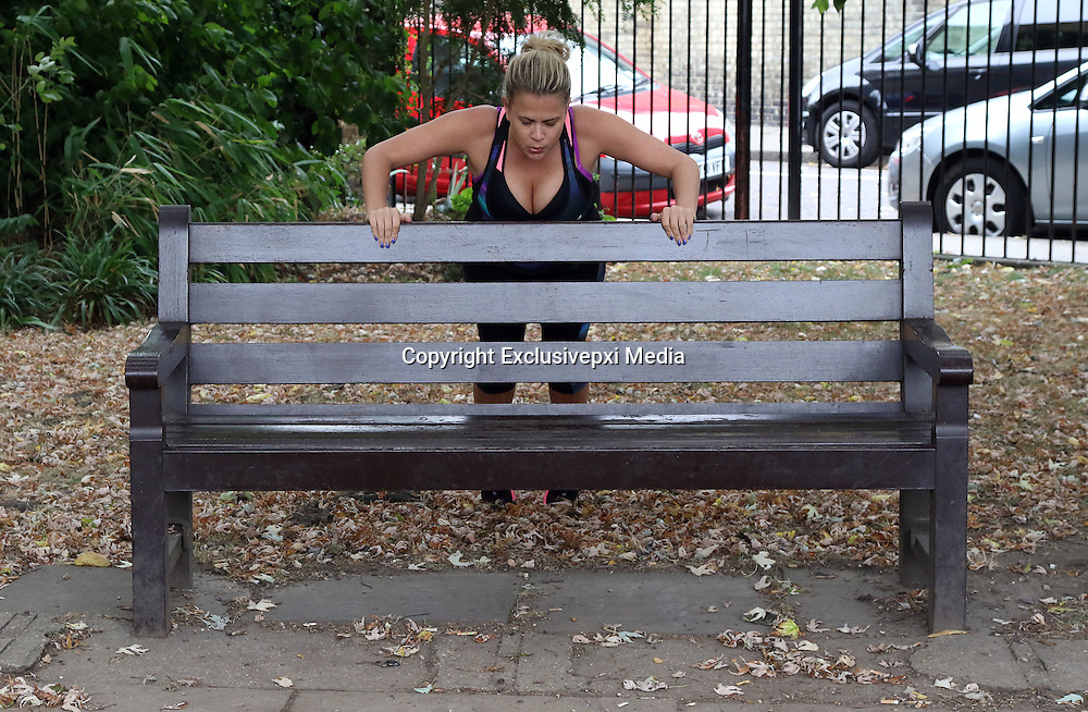 EXCLUSIVE<br /> <br /> Celebs go dating Love expert Nadia Essex out in London yesterday working out to lose weight , Nadia herself no stranger to trying to find love hopes mr right may notice her!!!<br /> ©Exclusivepxi Media