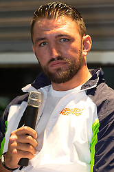 © Licensed to London News Pictures. 24/03/2016.  HUGHIE LEWIS FURY attends a press conference for the fight against DOMINICK GUNN at SSE Arena Wembley on Saturday 26th March 2016. London, UK. Photo credit: Ray Tang/LNP