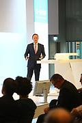 Ludwigshafen. 04.04.17<br /> BASF. Bürgerdialog nach dem BASF Unglück im Oktober 2016.<br /> Werksleiter Dr. Uwe Liebelt stellt sich den Fragen des Publikums<br /> Bild: Markus Proßwitz 04APR17 /masterpress