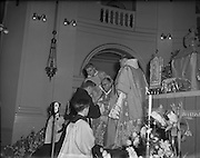 11/02/1953<br /> 02/11/1953<br /> 11 February 1953<br /> Franciscan Friar Rev. Fr. Berchmans O'Byrne O.F.M., Co. Laois, receiving the Missionary Cross at Merchant's Quay, Dublin. Picture shows the ceremony at which the cross was presented.