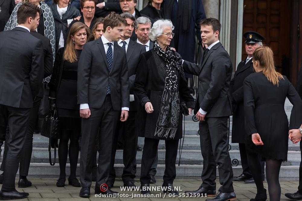 NLD/Rotterdam/20180220 - Herdenkingsdienst Ruud Lubbers, partner Ria Hoogenwegen en kinderen en kleinkinderen