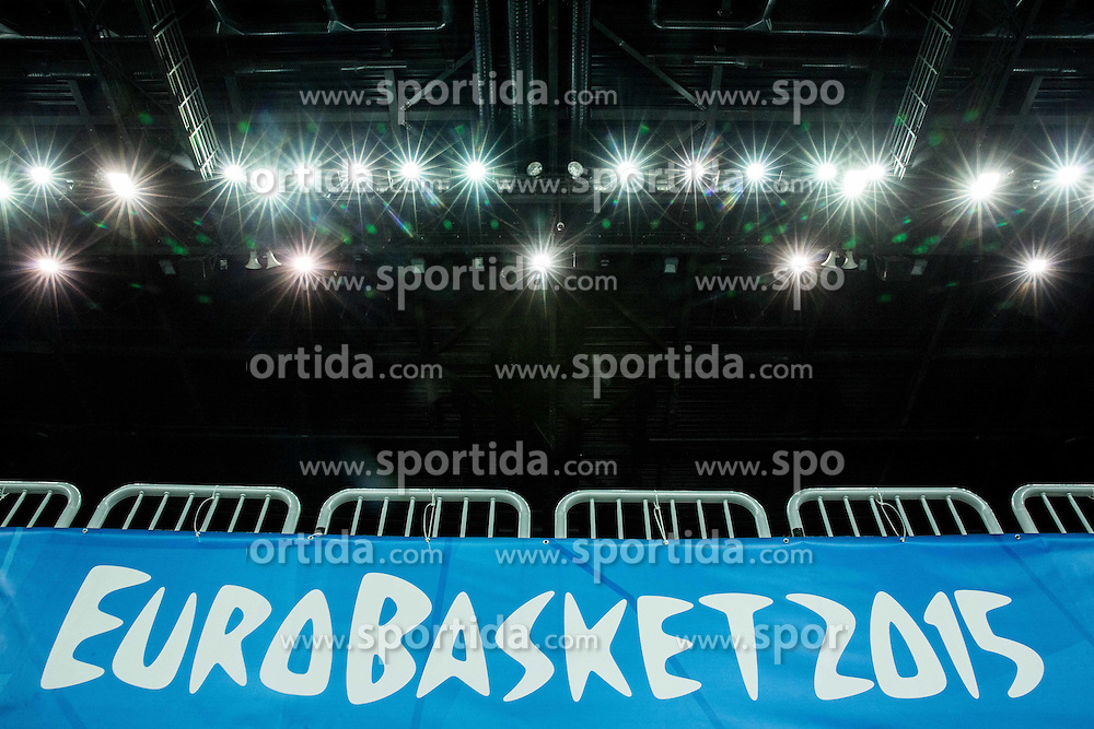 Lights during practice session of Slovenia National Basketball Team 1 day prior to the FIBA Europe Eurobasket 2015, on September 4, 2015, in Arena Zagreb, Croatia. Photo by Vid Ponikvar / Sportida