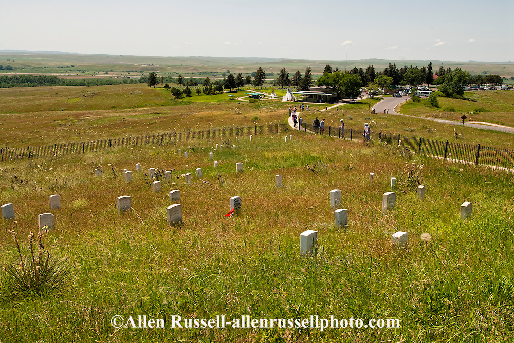Little Bighorn Battlefield National Monument, Montana, Last Stand Hill, Custer marker, Visitor Center