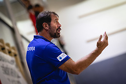 Veselin Vujović head coach of Slovenian national team during friendly handball match between Slovenia and Nederland, on October 25, 2019 in Športna dvorana Hardek, Ormož, Slovenia. Photo by Blaž Weindorfer / Sportida