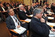 """Confindustria Udine 16 marzo 2015<br /> Convegno organizzato da InRail, Inter-Rail, FUC.<br /> """"Il cargo ferroviario in FVG"""".<br /> Sono intervenuti, Debora Serracchiani (Presidente Regione FVG), Matteo Tonon (Presidente Confindustria Udine), Guido Porta (AD Inrail spa), Tullio Bratta (AD Inter-Rail spa), Maurizio Ionico (AD FUC srl), Paolo Sartor (curatore del report) e Mariagrazia Santoro (Assessore Infrastrutture e Mobilita' Regione FVG).<br /> © foto di Simone Ferraro"""