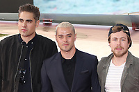 Busted, Charlie Simpson, Matt Willis, James Bourne, Dunkirk - World film premiere, Leicester Square Gardens, London UK, 13 July 2017, Allied soldiers from Belgium, the British Empire, Canada, and France are surrounded by the German army and evacuated during a fierce battle in World War II.