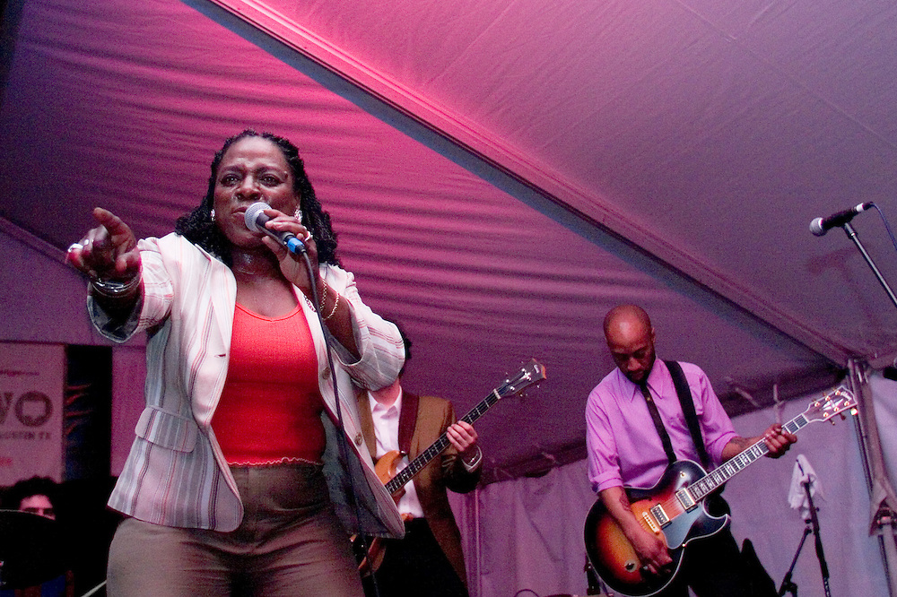 Sharon Jones and the Dap Kings perform inside Emo's Annex during the last night of the SXSW Music Festival.