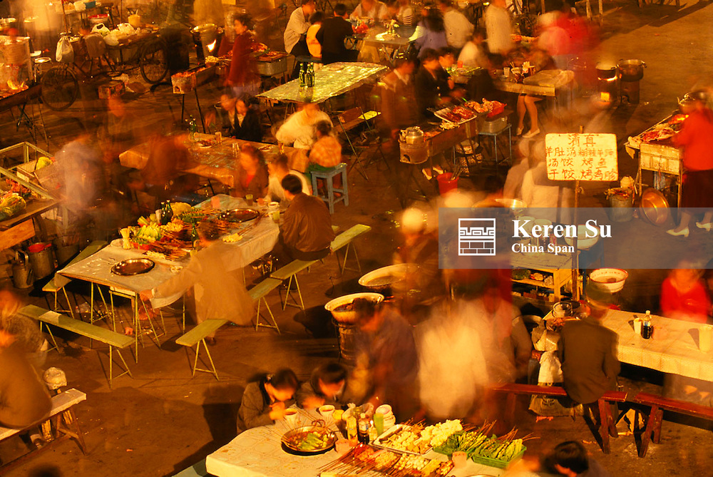 Night food market, Urumqi, Xinjiang Province, China
