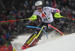 "29.01.2019, Planai, Schladming, AUT, FIS Weltcup Ski Alpin, Slalom, Herren, 1. Lauf, im Bild Elias Kolega (CRO) // Elias Kolega of Croatia in action during his 1st run of men's Slalom ""the Nightrace"" of FIS ski alpine world cup at the Planai in Schladming, Austria on 2019/01/29. EXPA Pictures © 2019, PhotoCredit: EXPA/ Erich Spiess"