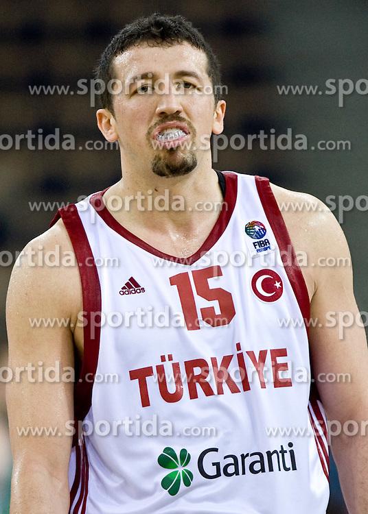 Hidayet Turkoglu of Turkey during the EuroBasket 2009 Group F match between Slovenia and Turkey, on September 16, 2009 in Arena Lodz, Hala Sportowa, Lodz, Poland.  (Photo by Vid Ponikvar / Sportida)