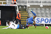Dan Ano AFC Wimbledon during the FA Youth Cup match between Newcastle United and AFC Wimbledon at St. James's Park, Newcastle, England on 6 January 2016. Photo by Stuart Butcher.