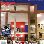 Earthworks magazine cover, Wits university Science Stadium building.