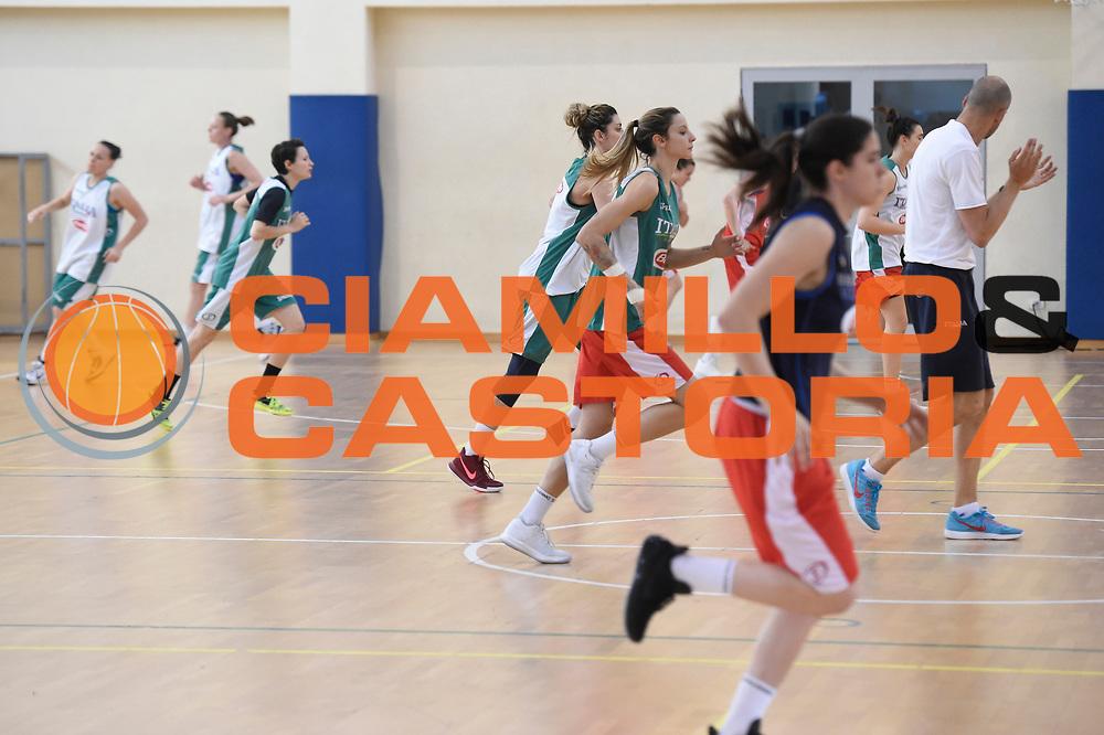 Squadra<br /> Nazionale Femminile Senior Allenamento<br /> FIP 2017<br /> Centro Giulio Onesti, 21/05/2017<br /> Foto Ciamillo-Castoria / G. Ciamillo