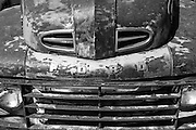 A black and white picture of an old Ford truck along Route 66 in Arizona. Missoula Photographer